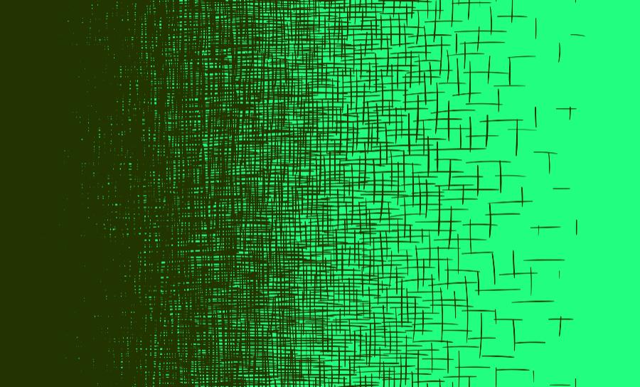 Hand drawn line gradient