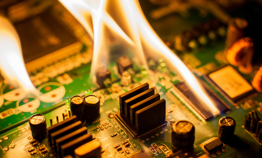 Overheated PCBs can catch on fire)