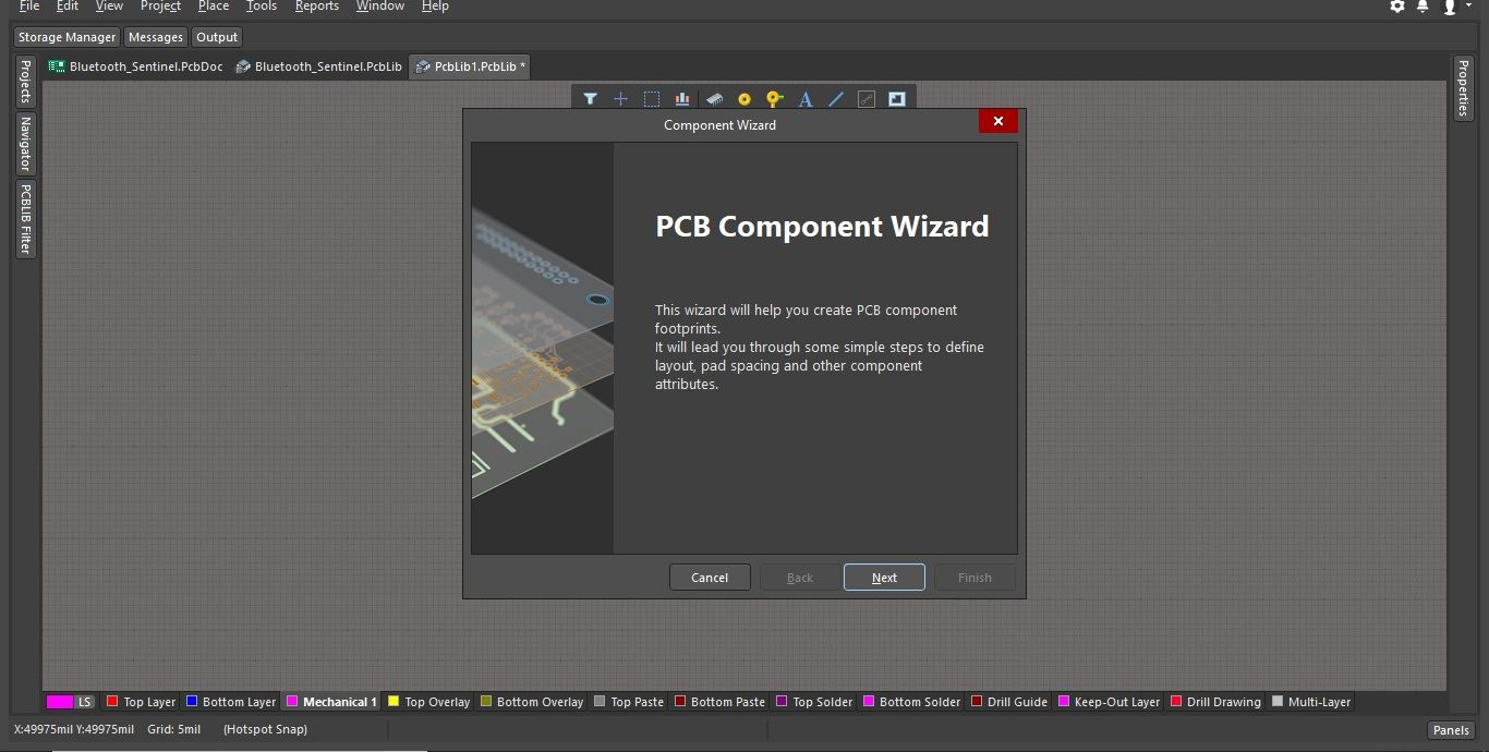 Altium PCB Component Wizard image