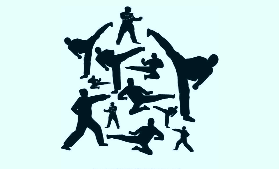 Graphic of martial arts participant