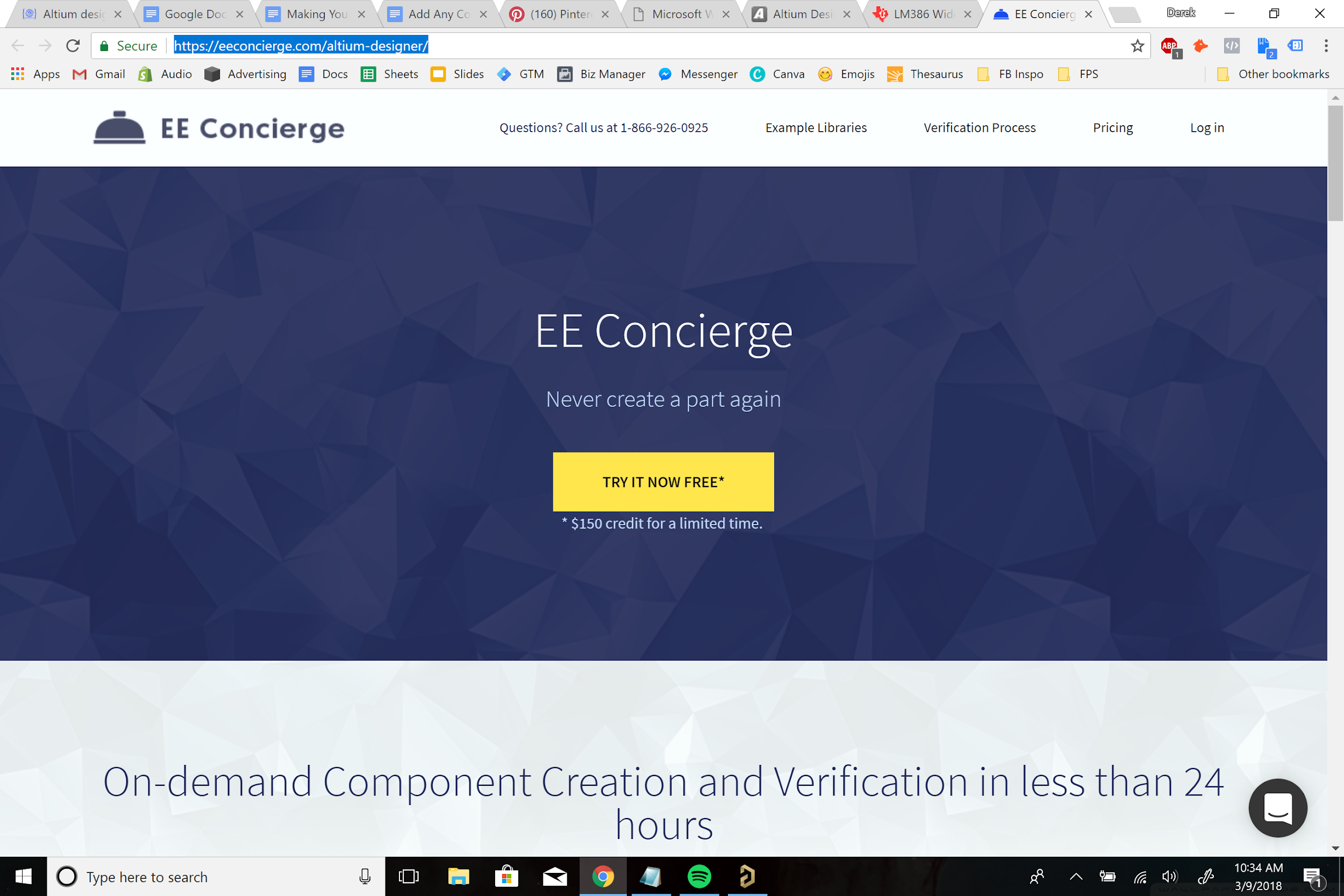 Add Any Component To Your Design With Unified Libraries Best Free Pcb Software39s Printed Circuit Board Software Screenshot Of Altiums Ee Concierge Service