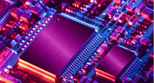 Microcontrollers on a circuit board