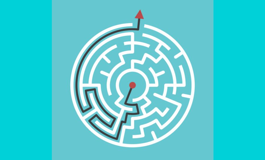 The right path through a maze