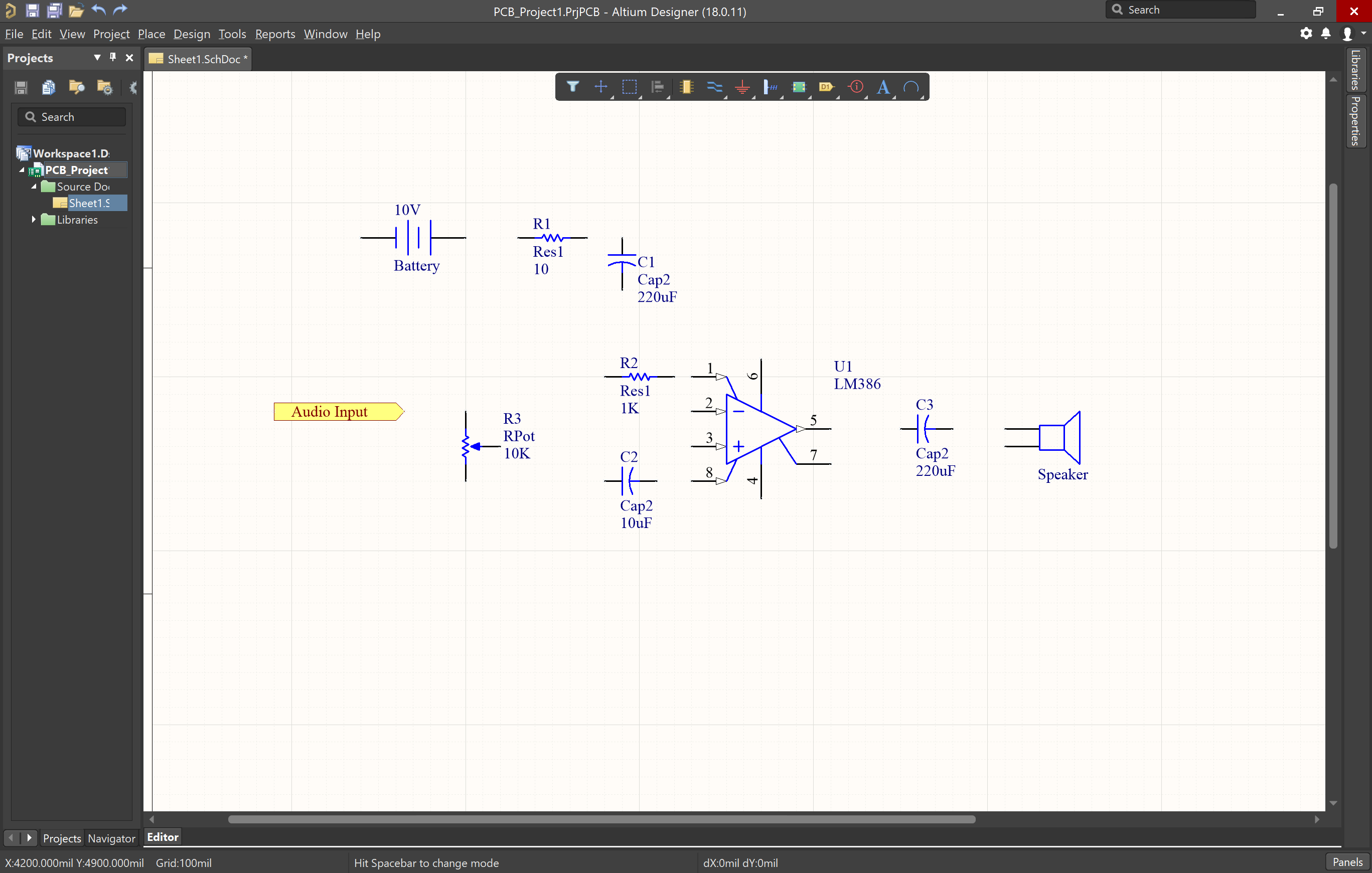 Picture of reference port on schematic in Altium Designer