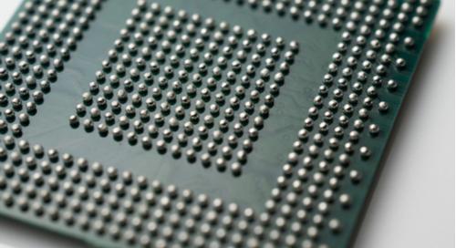 Ball grid array on circuit board
