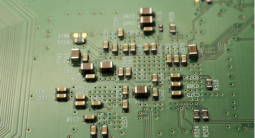 small components on circuit board