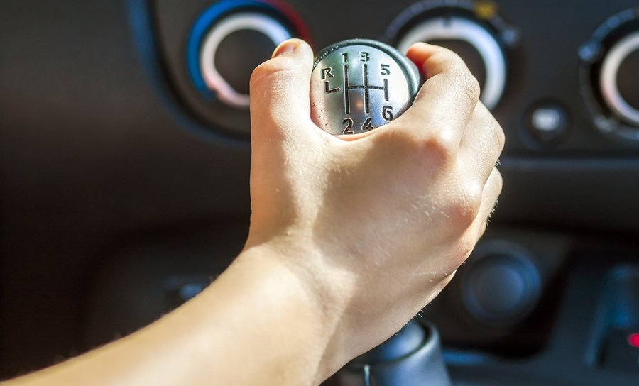 Hand on drive shift for vehicle