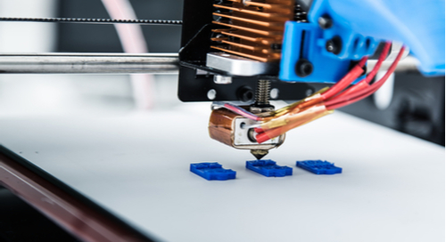 3D printer in use during manufacturing