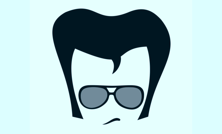 Elvis hair graphic