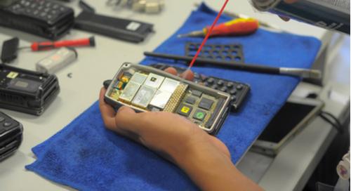 Coating a circuit board