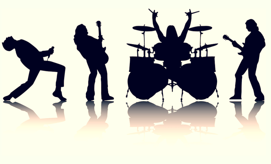 Image of rock & roll band