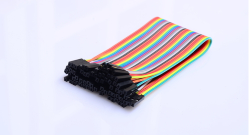 Rainbow colored cable