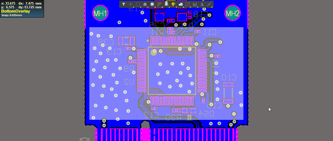 Moving multiple components on the board