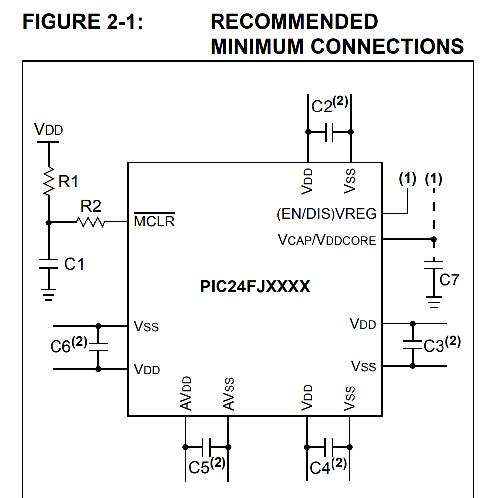 schematic of PIC24FJXXX