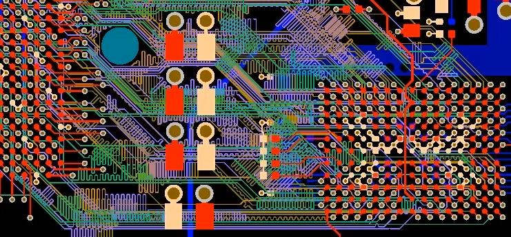 Circuit board from Altium Designer with routing completed
