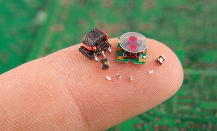 Small electronics on a finger
