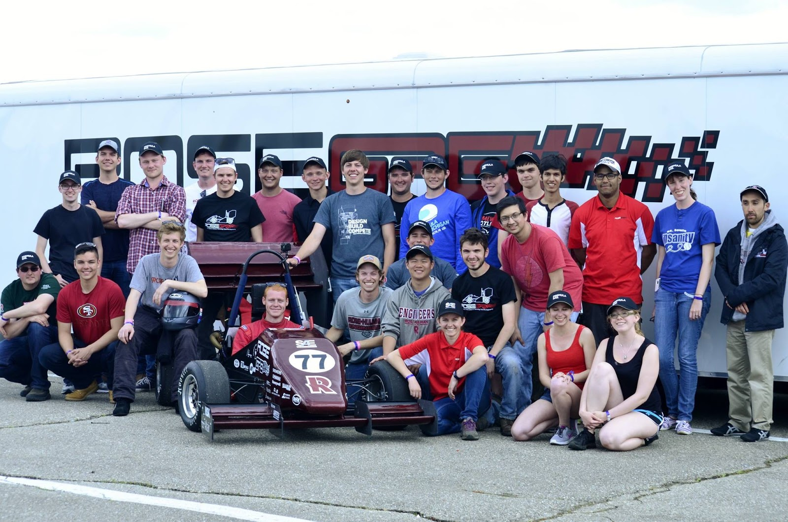 Team Photo with Car