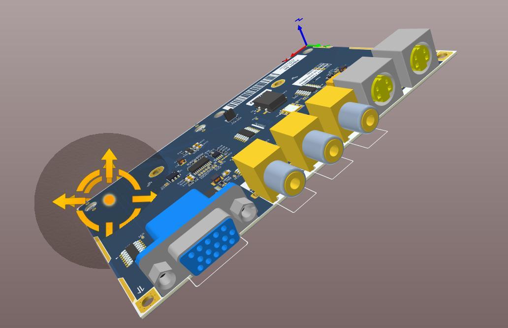 Altium Designerの3D基板表示のスクリーンショット