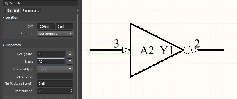 Editing a symbol pin for Altium  multiple