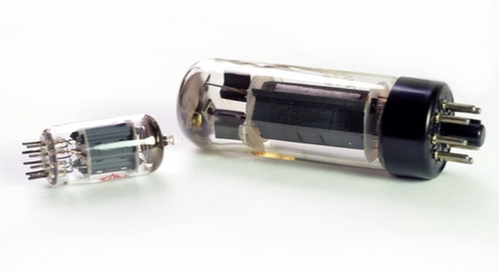Large and small vacuum tubes