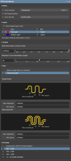 Altium Designer Activeroute Panel Menu