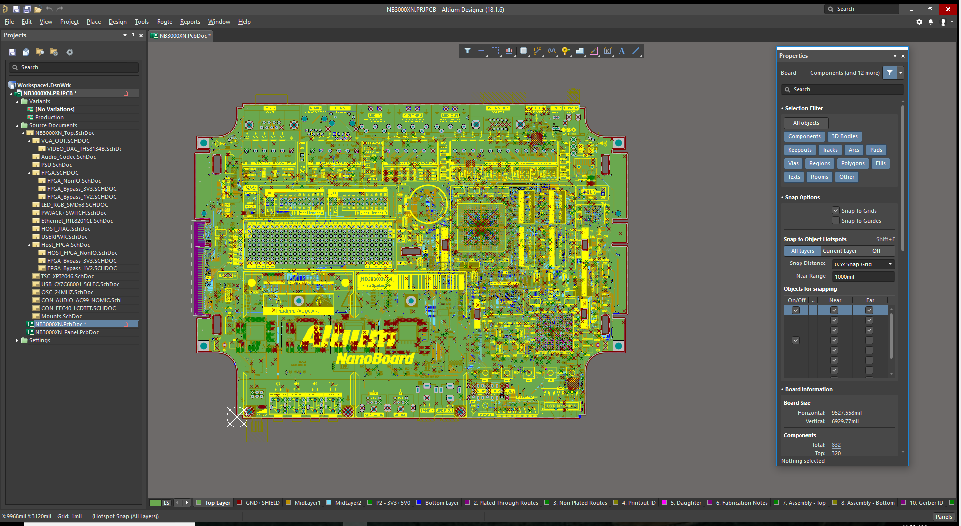 Altium open 3d View Layout menu