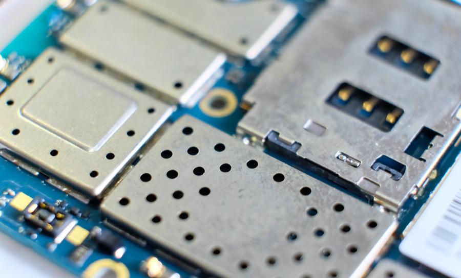Metal shielding on a PCB
