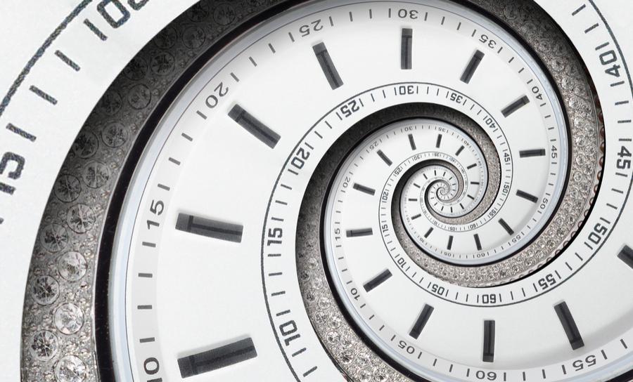 Spiral fractal clock