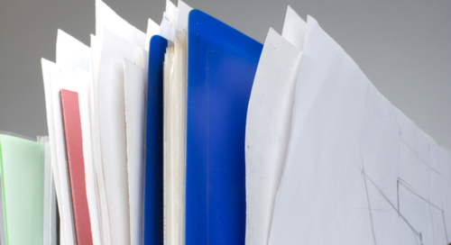 Documents in orange folder