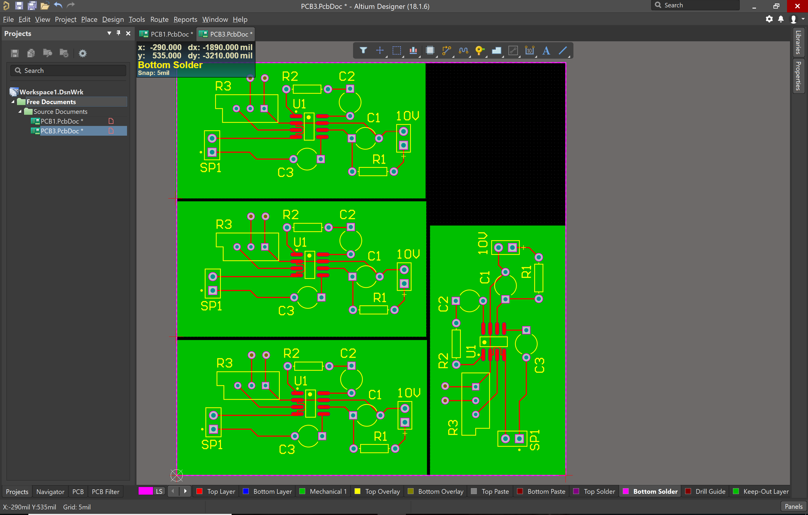 Altium Designer 18 embedded board array