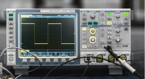 Digital signal on an oscilloscope