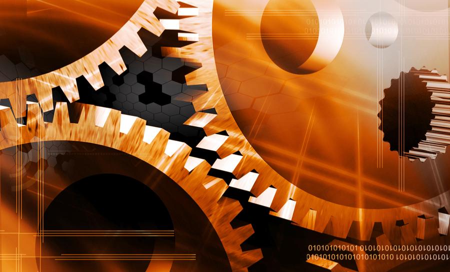 Gears in a dial watch