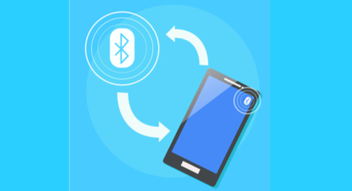 Bluetooth communication with a smartphone