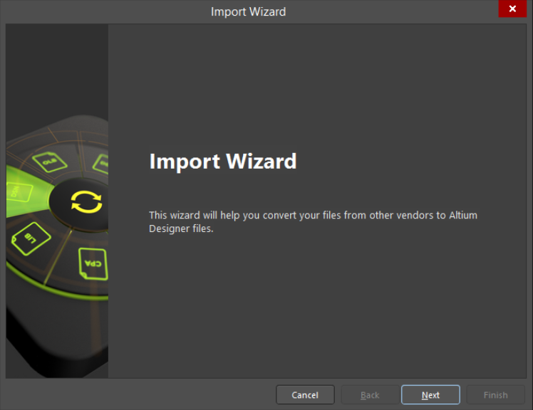 Import Wizard in Altium  18
