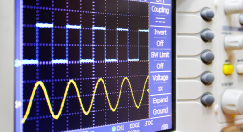 Oscilloscope of analog and digital signal