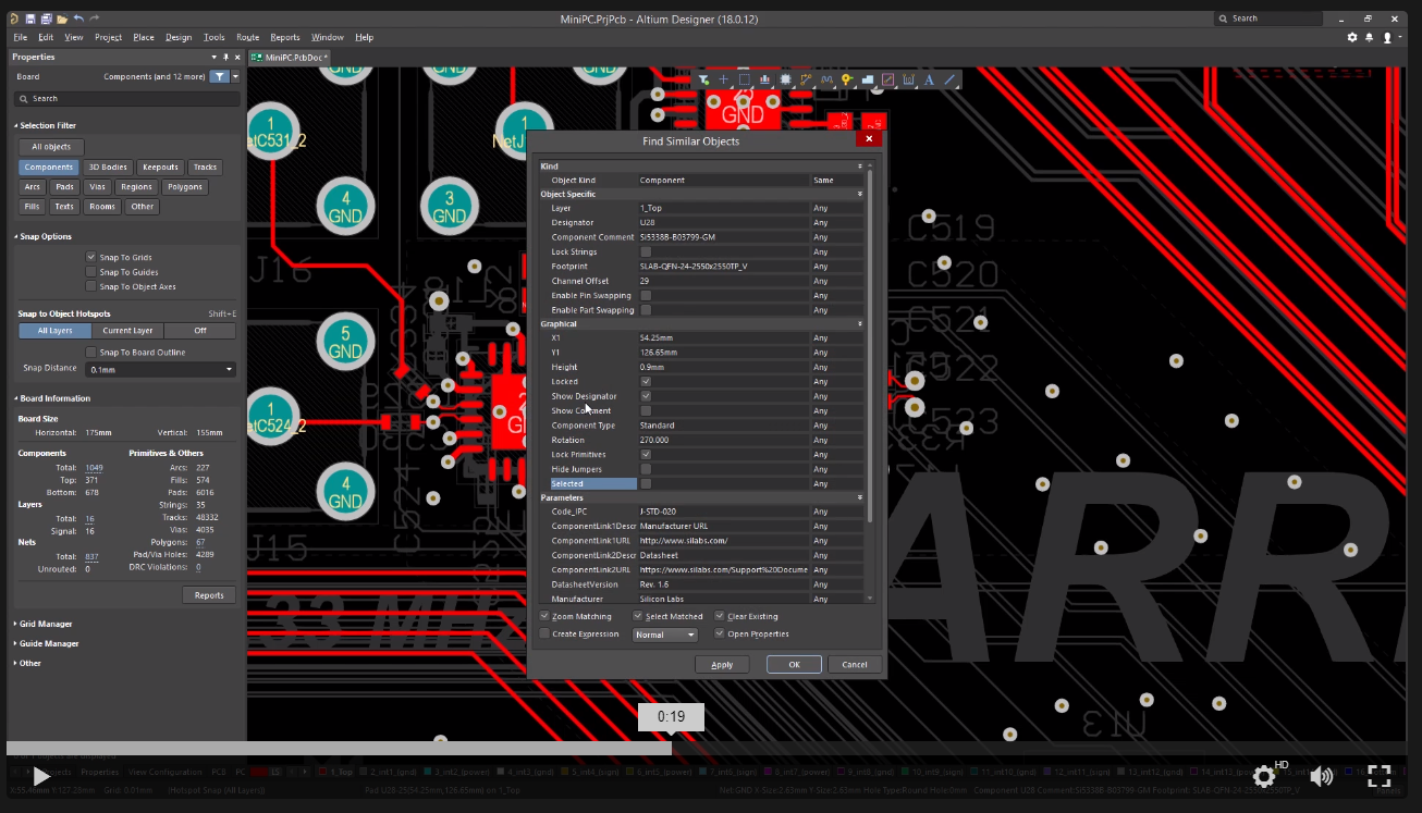 Altium Designer 18 global editing framework