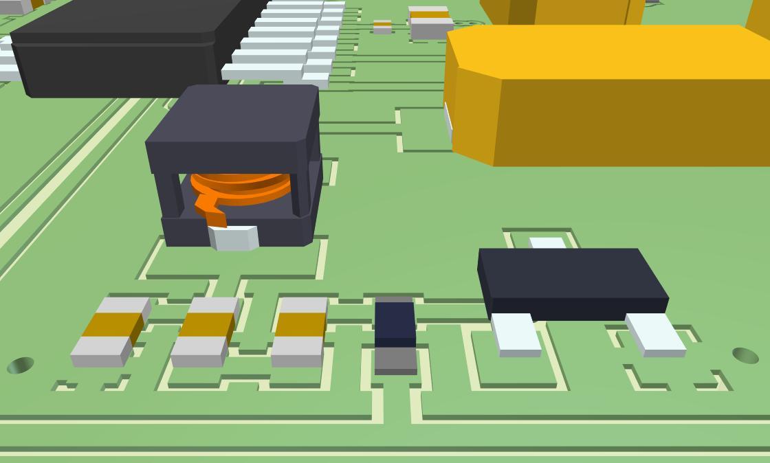 Plano de cobre 3D con AD18 en vertido de polígonos para regiones de cobre en el diseño de PCB