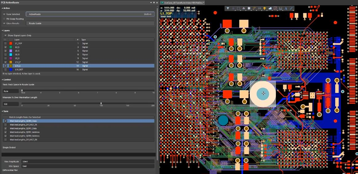 Screenshot of the ActiveRoute tool in Altium Designer