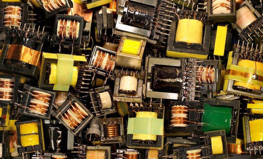 Many inductors