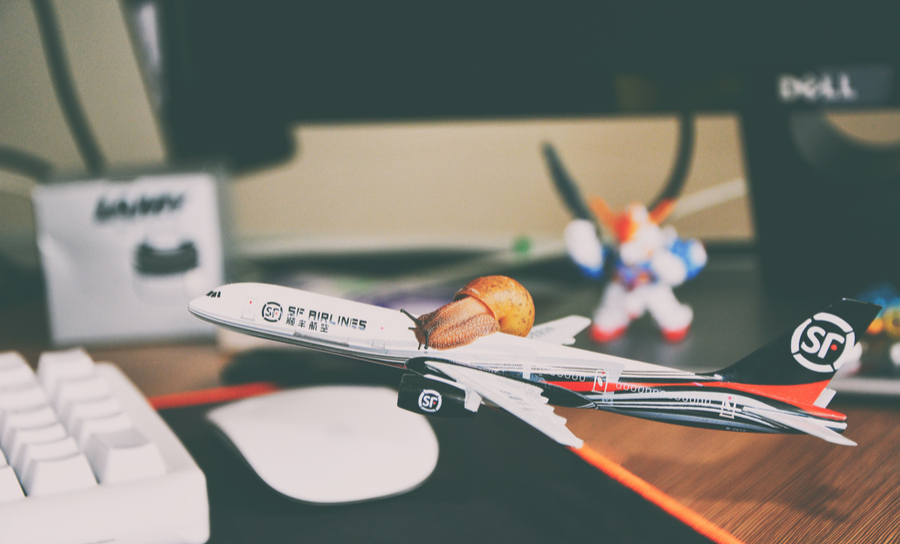 Picture of a model airplane built from a kit