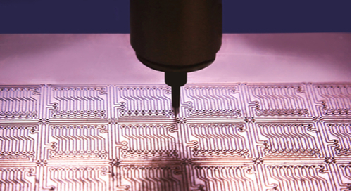 Drilling via holes in a PCB