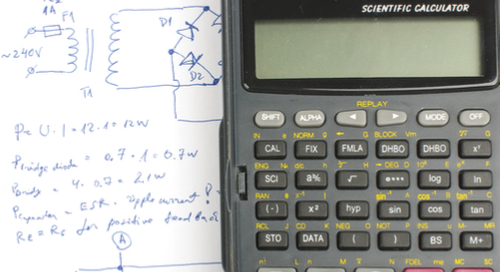 Electronics design with a calculator)