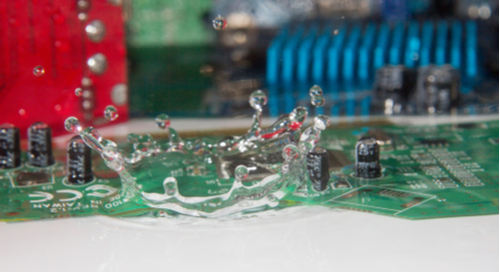 Water drops on PCBs