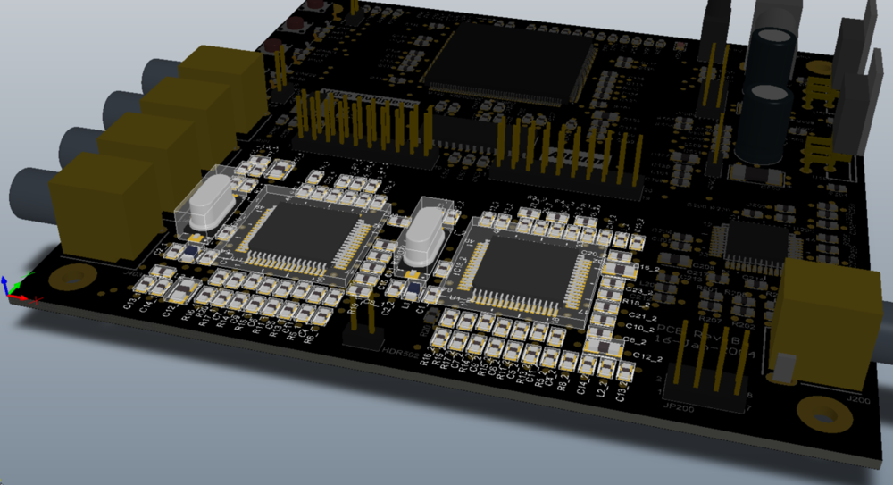 3D view of a finished device in Altium Designer