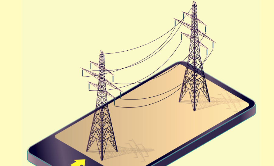 Transmission lines on a smartphone