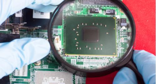 Examining a PCB