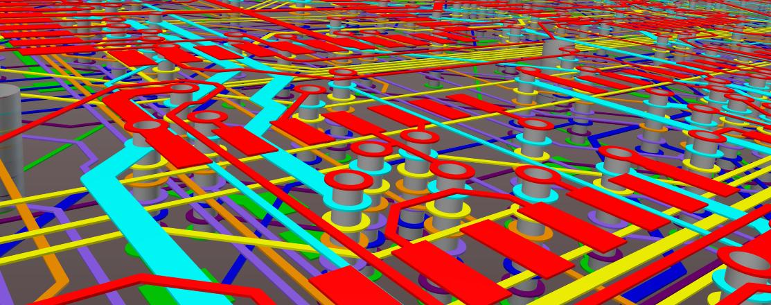 Altium  screenshot of 3D routing in interactive routing in Altium
