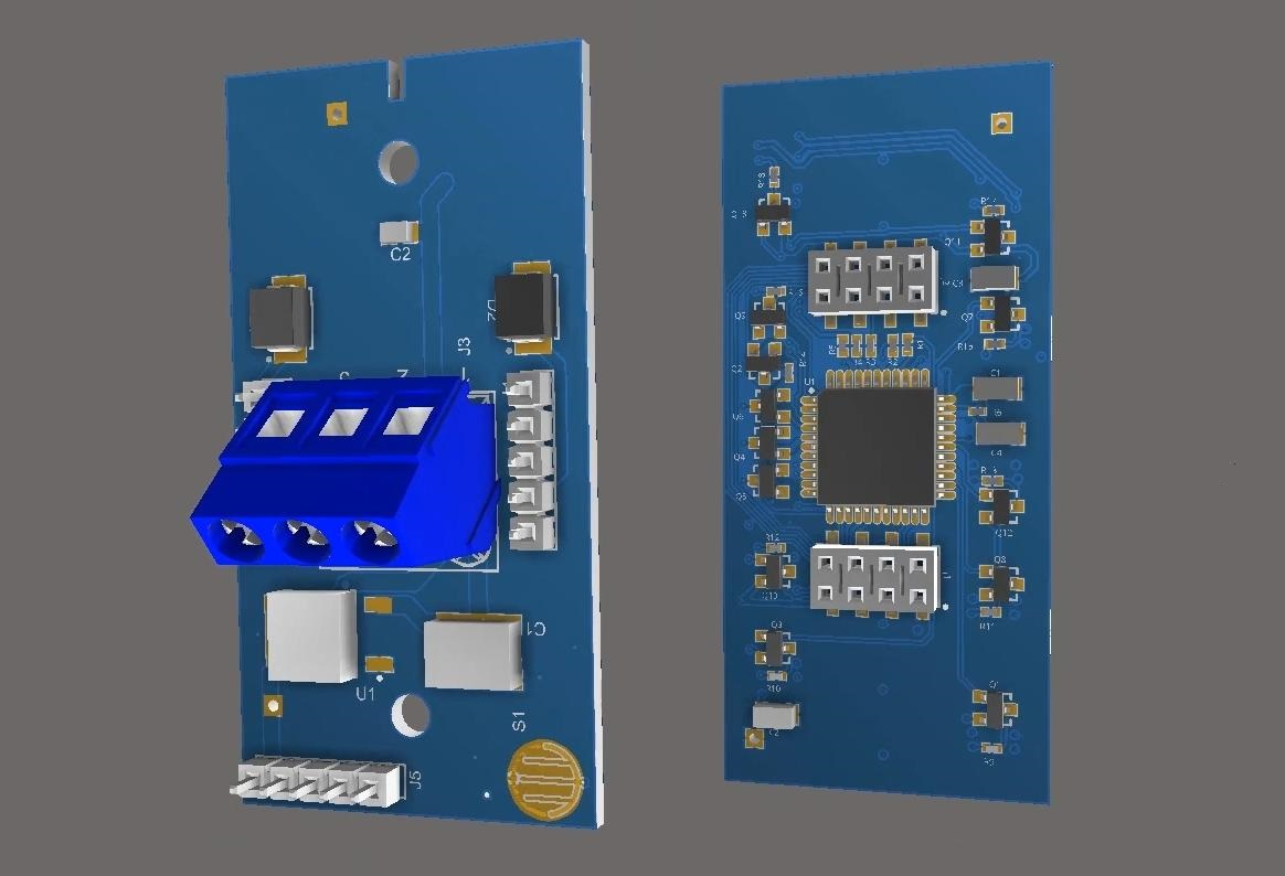 Screenshot of multiboard assembly in Altium Designer