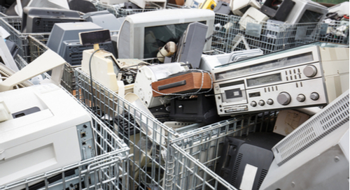 Electronic devices at a dump site