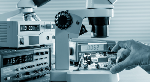 Inspecting a PCB with a microscope